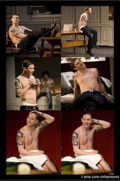 Tom Hardy #shirtless #undress tattoos sexy hot