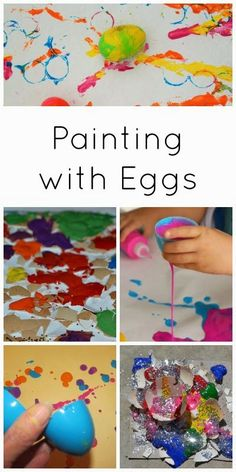 Easter egg painting :: easter crafts with eggs :: egg decorating