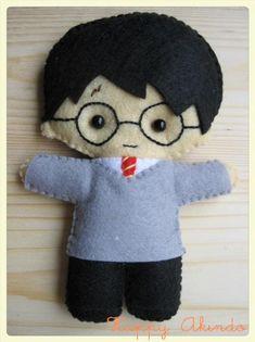 Harry Potter cute plush felt doll - Harry Potter Akindoll Collection