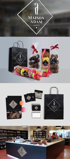#chocolaterie #macarons #maisonadam #logo