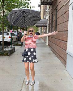 Michaela's outfit {blonde} sunglasses// Karen Walker collar// Vivetta top// Topshop bag// Chanel {similar here & here} skirt// Vivetta loafers// J.CREW {similar here}
