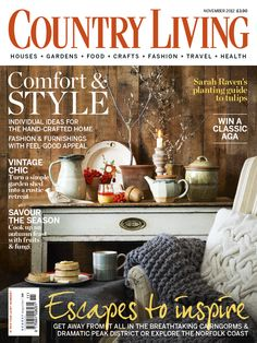 Country Living UK edition November 2012 cover www.countryliving.co.uk