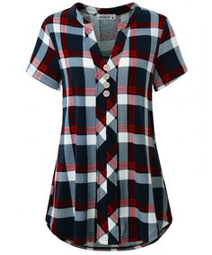 Shop a great selection of MOQIVGI Womens Notch Neck Short Sleeve Plaid Shirts Checkered Blouse Tops. Find new offer and Similar products for MOQIVGI Womens Notch Neck Short Sleeve Plaid Shirts Checkered Blouse Tops. Plaid Shirts, Plaid Tunic, Tunic Shirt, Shirt Blouses, Polo Shirts, Tunic Tops, Short Sleeve Blouse, Shirt Sleeves, Long Sleeve Shirts