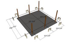 Laying out the carport Lean To Carport, Carport Plans, Double Carport, Carport Garage, Shed Plans, Roofing Tools, Roofing Felt, Wooden Carports, Drip Edge