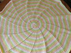 Free Crochet Spiral Baby Afghan Pattern.