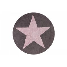 Round Reversible Star Dark Grey and Pink Rug Cotton with cotton backing Handmade in India Non-Toxic Dyes Light, due to its flexible and soft structure Imported Care Instructions: Machine-washable Lorena Canals, Machine Washable Rugs, Tapis Design, Gris Rose, Dynamic Design, Dark Grey Color, Modern Shop, Cozy Room, Star Rug
