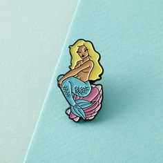 Meerjungfrau Emaille Pin mit Kupplung zurück / / Anstecknadeln, nautische…
