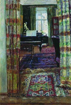 Interior with a Piano (Stanislav Zhukovsky - 1912)