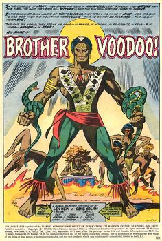 Brother Voodoo by Len Wein and Gene Colan. from Strange Tales # Marvel Comics, Horror Comics, Marvel 3, Marvel Heroes, Comic Book Artists, Comic Books Art, Comic Art, Book Cover Art, Comic Book Covers