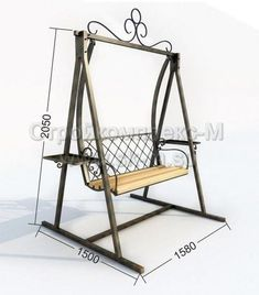 Standard Useful Swing Seat Dimensions - Engineering Discoveries Welded Furniture, Iron Furniture, Steel Furniture, Home Decor Furniture, Furniture Design, Hanging Swing Chair, Swing Seat, Swinging Chair, Swing Design
