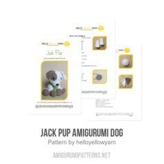 Jack Pup amigurumi pattern by Hello Yellow Yarn