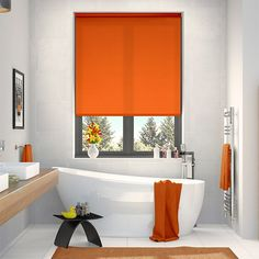 Valencia Simplicity Orange Roller Blind from Blinds 2go