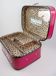 Pink Sparkle Hollywood Train Case $108.00