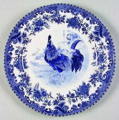 blue rooster plate