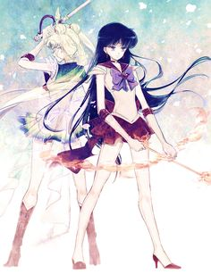 【リク絵7】Super Sailor Moon & Sailor Mars/じじ山