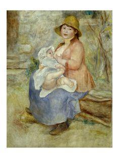 Pierre-Auguste Renoir, Mother's Joy, 1885, 91 cm x 72 cm, Oil on canvas.