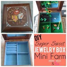 DIY Jewelry Box Mini Farm! -- perfect for traveling--