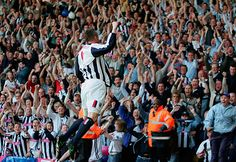 Geoff Horsfield celebrates the goal that kept West Brom up in 2004/05
