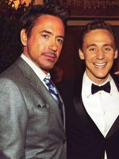 Robert Downey Jr and Tom Hiddleston
