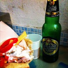 Greek food in Milan, remeber me Mykonos summer.