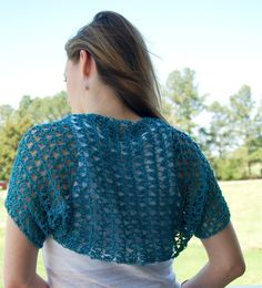 I made this shrug in three different colors last year. I'm just now getting around to writing out the instructions. It is a really si...