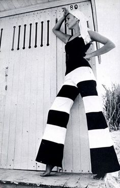 love the wide leg striped pants -too cute!