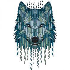 Geometric Wolf T-shirt Design by jun087 - fancy-tshirts.com