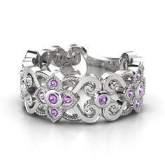 Spanish Lace Band <3 #silver #amethyst