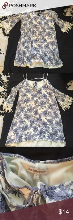 Dress Floral, peek-a-boo shoulders Charlotte Russe Dresses Midi