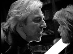"""karthaeuser65: """" Alan Rickman as the evil Judge Turpin, with Jamie Campbell Bower in 2007's """"Sweeney Todd: The Demon Barber of Fleet Street."""".. evil-minded, however, sexy… """""""