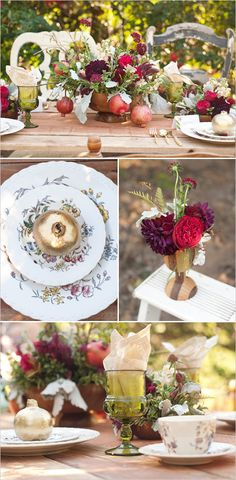 pomegranate table decor perfect for the Holidays!
