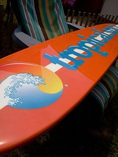 Six foot company logo / custom surfboard wall hanging,surboard logo design, surfboard wall art