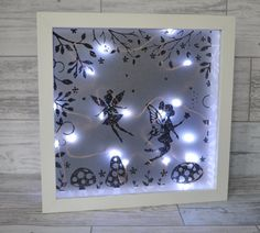 Fairy Night Light, Nursery Decor, Fairy Lights, Shadow Box, Girls Bedroom Decor, Night Light, Girls Bedroom Art, Girls Birthday Gift