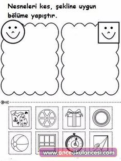 Shape Sorting: Place the Circles and Squares Into The Correct Category Worksheet.Use the Shape Sorting printable worksheet to teach children about the differences between square objects and circle objects by sorting them into different categories. Shapes Worksheet Kindergarten, Pre K Worksheets, Shapes Worksheets, In Kindergarten, Printable Worksheets, Preschool Printables, Preschool Worksheets, Preschool Learning, Preschool Activities