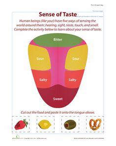 Worksheets: 5 Senses: Taste Matching