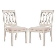 Safavieh Selena Linen Side Chairs in Taupe (Set of 2)