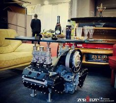 My kind of coffee table. Porsche style. Brought to you by JustinCaseDeck.com