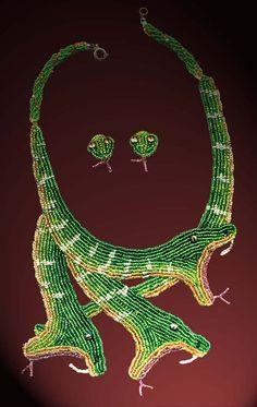beaded lizard necklace