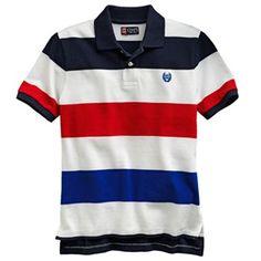 Chaps Striped Pique Polo - Boys 8-20 #Kohls