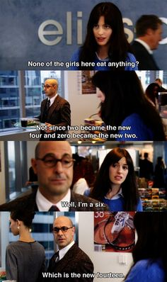 None of the girls here eat anything? ~ The Devil Wears Prada (2006) ~ Movie Quotes