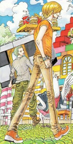 One Piece: Zoro and Sanji