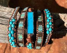 "Boho Chic Leather Wrap Bracelet, Arrow Bracelet, ""The Comanche"" Fringe Earrings, Leather Earrings, Women's Earrings, Leather Jewelry, Handmade Bracelets, Handmade Jewelry, Wrap Bracelets, Jewelry Shop, Fleur Design"
