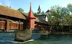 Spreuerbrücke, Luzern Covered Bridges, Switzerland, Around The Worlds, Europe, Cabin, House Styles, City, Travel, Home Decor