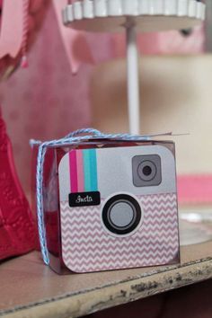 Instagram birthday party favors! See more party ideas at CatchMyParty.com!
