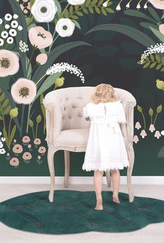 Big Blossom Arch Wallpaper - Silk Interiors Wallpaper Australia  Available from www.silkinteirors.com.au #wallpaper #wallpaperforwalls #kidswallpaper #nursery