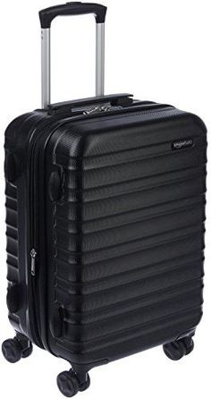 AmazonBasics Hardside Spinner Luggage  20 Cabin Size Black ** Find out more about the great product at the image link. (This is an affiliate link) #TravelUmbrellas