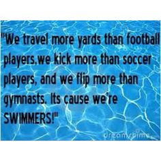 I think of myself as a swimmer therefore I.M.   (swimmer humor)