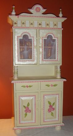 Etsy Find: Victorian Furniture For Kids – Cupboard/Buffet and Hutch