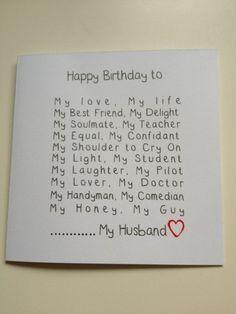 Husband Birthday Cards Husband Birthday and Birthday .- Husband Birthday Cards Husband Birthday and Birthday Cards on Handmade Birthday Card Ideas -