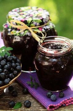 Jelly - fun to make, tastes AWESOME. This is not a picture of my blueberry jelly - but it is the best homemade Jam And Jelly, Jelly Fun, Blueberry Jam, Canning Recipes, Country Life, Country Living, Treats, Cooking, Sweet